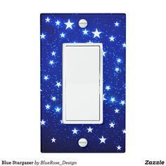 Blue Stargazer Light Switch Cover Stargazer, Custom Lighting, Light Switch Covers, Christmas Card Holders, Hand Sanitizer, Light Up, Keep It Cleaner, Colorful Backgrounds, Holiday Cards