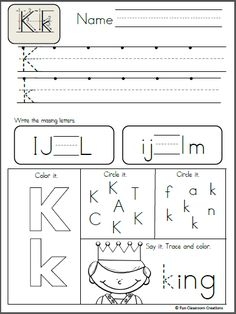 Alphabet Letter Formation and Letter Recognition Practice Pages There are 26 black and white printables in this packet. On each page, students will trace the uppercase and lowercase letters, write … Writing Practice Worksheets, Handwriting Worksheets, Alphabet Worksheets, Kindergarten Worksheets, Printable Worksheets, Writing Alphabet Letters, Alphabet Writing Practice, Tracing Letters, Free Printable