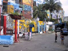 Afro Cuban murals in Callejon de Hamel (Hamel Alley) a curious place with Sunday afternoons salsa music and dance.