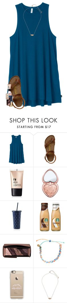 """it's raining so much!!"" by southernmermaid ❤ liked on Polyvore featuring RVCA, Birkenstock, Charlotte Russe, Too Faced Cosmetics, Kate Spade, Hourglass Cosmetics, Pura Vida, Casetify and Kendra Scott"