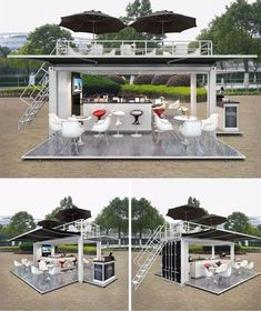 Mobile Pop-up Coffee Shop Container Design,20ft Prefabricated Shipping Container… More #coffeeshopdesign