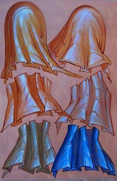 The work and teaching of UK iconographer Amanda de Pulford. Byzantine Art, Byzantine Icons, Religious Icons, Religious Art, Raphael Angel, Archangel Raphael, Writing Icon, Icon Clothing, Medieval Tapestry