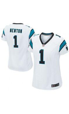 NFL Women s Carolina Panthers Cam Newton 1 White Game Jersey  Womensjersey   sportsjersey fd69a6312