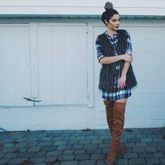 Plaid Dress Three Ways Featuring Vamped Boutique + Makeup Details   Nikole DeBell Beauty   @CharlotteRusse @tjmaxx @vampedboutique