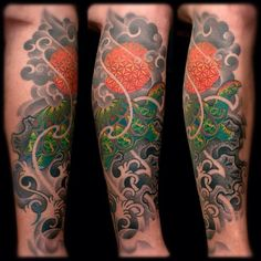 2012 #turtle #buddhas #sun #waves #water #rocks #psychedelic #oriental #tattoo #colortattoo #2011