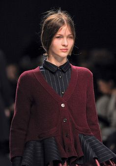 What a great idea! Sacai FW12 complementary dark colors