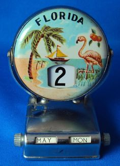 Flamingo calendar....I remember wanting one of these but we couldn't afford it!...great vacation though !!!