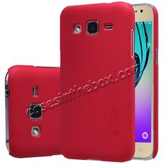 Nillkin Frosted Oil Coated PC Hard Back Case Samsung Galaxy J2 with Screen Protector - Red US$12.09
