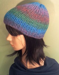 Glittery Sparkle Women's Beanie in Blue Purple Green by NoraTones