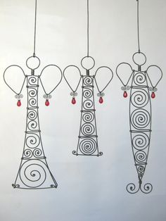 Artistic wire angels