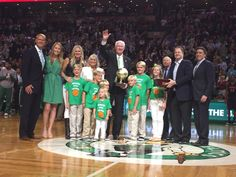 """John and Chris Havlicek at 50th anniversary of """"Havlicek steals the ball"""" play"""