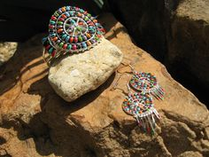Southwestern  Turquoise Coral and Silver by fleurdesignz on Etsy, $22.00