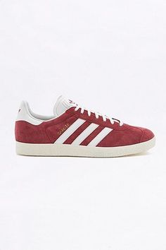 adidas Originals Gazelle Maroon Suede Trainers