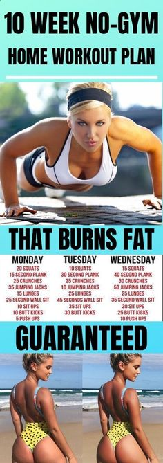 The 10 Week NoGym Home Workout Plans If you dont keep an eye on your diet an exercise by itself will not do much Have in mind to drink a lot of water and maintain a healt. Health Tips For Women, Health Advice, Health And Wellness, Health Fitness, Health Care, Home Workout Men, At Home Workout Plan, At Home Workouts, Workout Plans