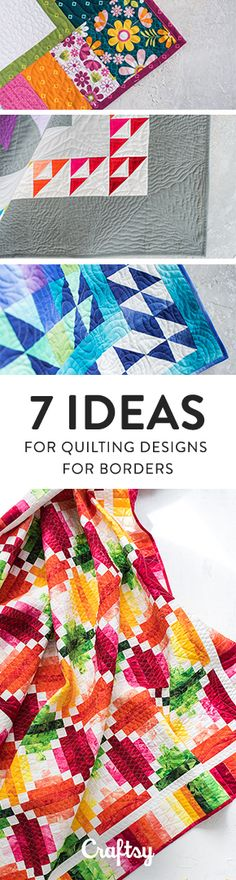 """Adding quilt borders can be an effective way to frame a quilt top and make it feel more complete. But then when it comes time to quilt your project, you might wonder, """"How do I quilt the border?"""" We'll give you a few ideas for machine or free-motion quilting borders, coming from our Midnight Quilt Show star Angela Walters."""