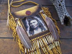 Native American Chief Joseph 1903 Portrait Beaded On by LJGreywolf