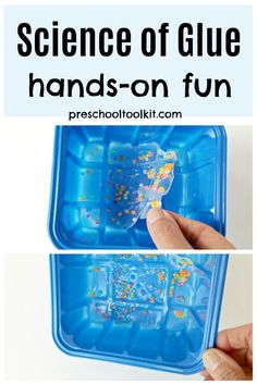 Explore glue and beads in this fun hands-on science activity. Combine science and art in this unique activity that engages kid early learning skills. #scienceforkids #creativekids