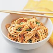 Sesame Noodles with Shredded Chicken Recipe at Cooking.com