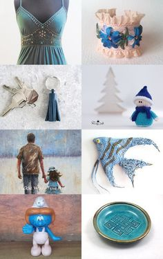 Blue, turquoise and more by Anna on Etsy--Pinned+with+TreasuryPin.com