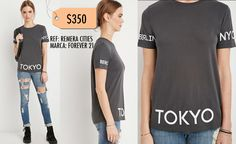 Remera Cities- Forever 21 Talla M