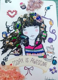 Hand Embroidery Projects, Color, Embroidery Stitches, Art, White People, Colour, Colors