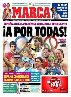 La portada del 26 de julio de 2012
