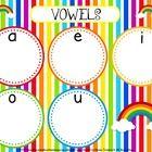 FlapJack Educational Resources: Rainbow Vowel Mat Freebie & New Sight Word Title -free Alphabet Activities, Literacy Activities, Vowel Activities, Spanish Activities, Teaching Reading, Teaching Spanish, Spanish Grammar, Teaching Ideas, Spanish Teacher
