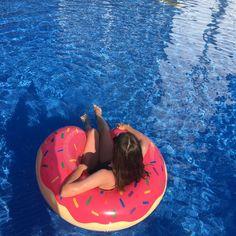 #donut#donutswimring#girl#swimmingpool#vacation#summer#holidays#donut