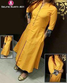 Different Types of Stylish Kurti Designs - Crazzy Crafts Churidar Neck Designs, Kurta Neck Design, Salwar Designs, Kurta Designs Women, Salwar Pattern, Kurti Patterns, Dress Neck Designs, Blouse Designs, Churidhar Designs