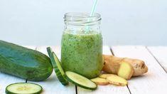 Okurkové smoothie s limetkou a zázvorem - Proženy Vitamin D, Pickles, Cucumber, Smoothie, Food, Diet, Lemon, Smoothies, Shake