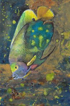 Fine Art Print Watercolor Aquatic Tropical Fish Reproduction Painting