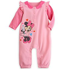 """The Disney Store """"Minnie Mouse"""" knit romper (custom sized)"""