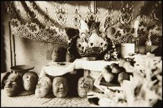 Bali 1977some of Lempad's art-works, stone and wood carvings; the mainstay of his oeuvre, though, is painting and drawing