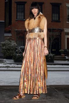 Givenchy: I was enamored by the paillette dresses from Riccardo Tisci's Spring/Summer 2014 collection, and now Givenchy has a print based on those numbers for Pre-Fall. Paired with a little fur stole, this dress is perfection.Photo courtesy of the designer.