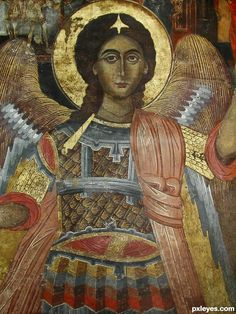 St michael the archangel orthodox icon Madonna, Byzantine Icons, Byzantine Art, Religious Icons, Religious Art, Gabriel, Angel Drawing, Angel Images, Religious Paintings
