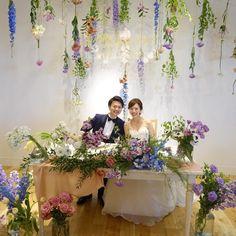 カラフルなお花がメインの「高砂・メインテーブル装花」装飾まとめ | marry[マリー]