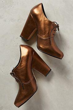 Bronze heels at Anthropologie