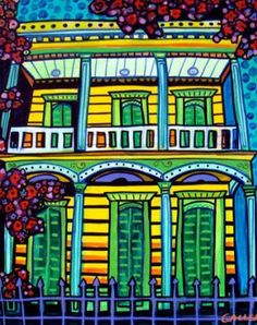 50% Off - NEW ORLEANS PRINT of Painting French Quarter (Hg723)