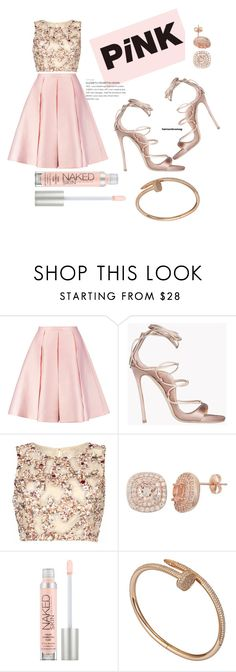 """""""PrettyinPink"""" by breestreet ❤ liked on Polyvore featuring Emilia Wickstead, Dsquared2, Raishma, Urban Decay and Cartier"""