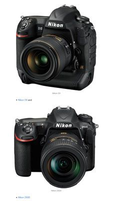 (top to bottom) Nikon D5 and D500 Digital SLR Cameras Win the Prestigious Red Dot Award: Product Design 2016