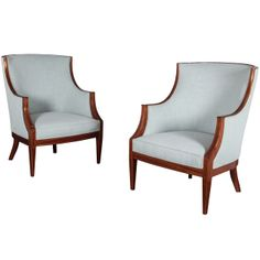 A Pair of Danish Bergeres | From a unique collection of antique and modern bergere chairs at http://www.1stdibs.com/furniture/seating/bergere-chairs/