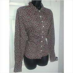 Designer HOBBS Ladies Smart Casual Button Fasten Work Office Shirt Blousev Top