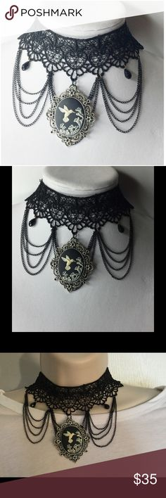 Black Lace Choker Beautiful, carved Vintage style Cameo Jewelry,in fashion jewelry such as Chokers,Necklace,Rings,Brooches,earrings elegant Lockets,handbags,purse,frames and Bracelet.The craftsmanship of these one of a kind unique Cameo pieces make for a