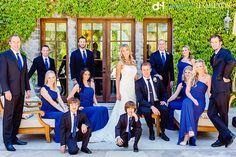 Sasha Souza Events, Damion Hamilton, Davis Estates, bridal party, royal blue, Napa Valley Destination Wedding