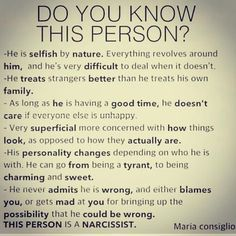 What is a Narcissist? This Website is a resource for victims of all kinds of abuse, specifically Narcissist Abuse. Narcissistic People, Narcissistic Behavior, Narcissistic Abuse Recovery, Narcissistic Personality Disorder, Narcissistic Sociopath, Sociopath Traits, Narcissistic Husband, Ex Husbands, Lying Husband