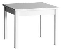 Tavolo allungabile in frassino memo bianco - 90x90/240x75 cm   Dalani Home & Living