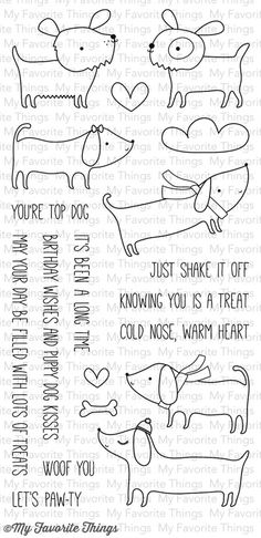 My Favorite Things TOP DOG Clear Stamps CS90 zoom image