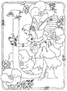 ☮ Flower Fairies Alphabet ~ ☮ Color it Yourself! Art  psychedelic ☮