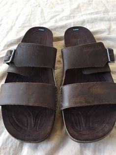 fe4cbe7af62 Merrell Downtown Slide Buckle Mens Sandal Dark Earth Leather Size 13   fashion  clothing