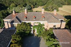 Aerial view of Filoli aka the Dynasty TV series mansion.